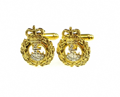 Royal Navy Chief Petty Officer Cufflinks (with Leatherette carry case